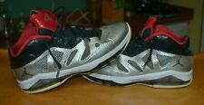 2012 Jordan Nike Melo M8 Advance Metallic Silver Black Shoes Size 10.5 Nice