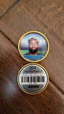 2017 ANDAMIRO COIN ODELL BECKHAM JR GIANTS LSU 1971 TOPPS STYLE GOLD SP # 4