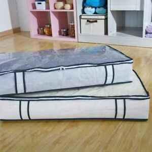 Under Bed Storage Duvet Pillow Clothes Bedding Organiser Bag Zip Box