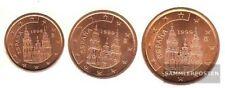 España e1 - 3 1999 flor de cuño 1999 moneda de curso legal 1, 2 y 5 Cent