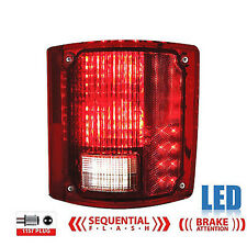 73-91 Chevy GMC Truck Rear RH LED Sequential Tail Turn Signal Brake Light Lens