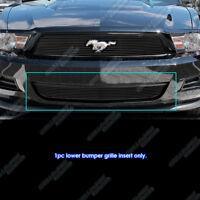 Fits 2010-2012 Ford Mustang Black Bumper Billet Grille Insert for V6 Only