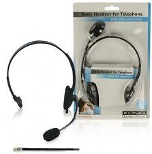 könig headset mit telefonhöreranschluss rj9