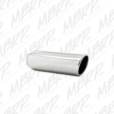 MBRP T5138 304 SS Round Angle Cut Weld-On Mirror Polished Exhaust Tip