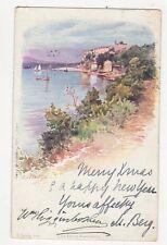 L'Ile Sainte Marguerite E Lessieux 1904 France Art Postcard 273a