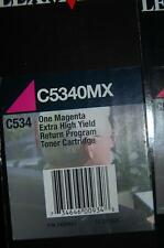 Genuine Lexmark C5340MX MAGENTA C534 Extra High Yield 7,000 Pages