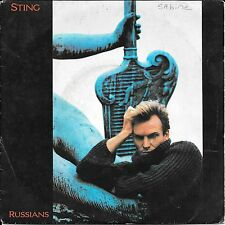 "45 TOURS / 7"" SINGLE--STING--RUSSIANS / GABRIEL'S MESSAGE--1985"