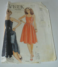 sewing pattern dress with straps party cocktail prom size 10 to 16