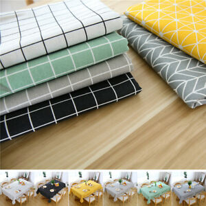 Cotton Table Cloth Table Cover Rectangular Party Dining Tableware Tablecloth UK