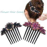Women Flower Hair Comb Pins Slide Clips Hair Barrettes Accessories Bridal