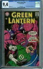 GREEN LANTERN 56 CGC 9.4 WHITE PG RARE HTF High Grade DC SilverAge 1967 NEW CASE