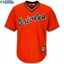 BALTIMORE ORIOLES BLANK JERSEY YOUTH SMALL 8 ORANGE MAJESTIC COOL BASE
