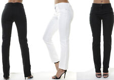Ex Next WOMENs Mid Waisted Jeans Straight Leg Long Pants White Black 6 to 26