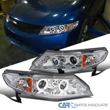 Fit Honda 06-11 Civic 4Dr Sedan LED Halo Projector Headlights Head Lamps Clear