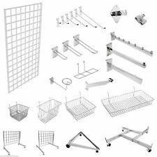 More details for grid wall gridwall mesh chrome retail shop display panel accessory hook arm arms