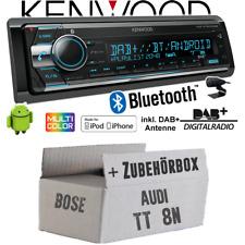 Audi Tt 8N Bose Autoradio Radio Kenwood DAB+ Bluetooth CD USB Android Montage