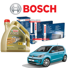 KIT TAGLIANDO FILTRI BOSCH + OLIO CASTROL VW UP 1.0 BENZINA DAL 2011 AL 2018