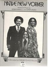 "ODYSSEY ""NATIVE NEW YORKER"" SHEET MUSIC-PIANO/VOCAL/GUITAR/CHORDS-1977-RARE-NEW!"