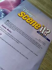 Disney Scene It DELUXE Edition Board Game Spares Instructions Manual Replacement