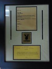 "RARE! ""Playboy"" Custom Framed Correspondances from the 1950's JG Autographs COA"