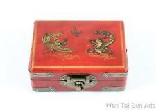 Dragon Phoenix Chinese Jewellery Box, Wooden Lacquer Box