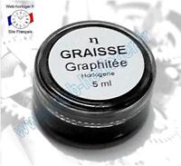 Graisse graphitée pour horloge, pendule 5 ml - Graphite grease for clock
