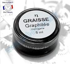 Graisse graphitée pour horloge, pendule 5 ml - Graphite grease for clock