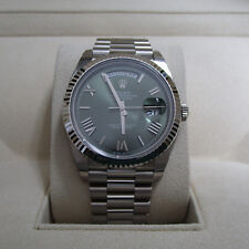 Rolex President Day Date II 41mm 218239 Brown Dial 18k White Gold Watch