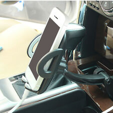 2 USB Ports w/3A current Universal Car Charger Holder Cradle for MPS/GPS/Phone