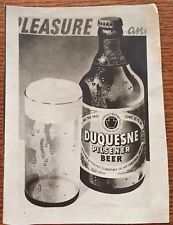 Duquesne Brewing Company Pittsburgh Pa -advertising