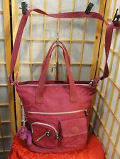 Kipling Sasha Sherpa Tall Tote Zip Top Cross Body Handbag Shoulder DEFECTS