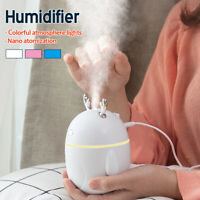 320ml Mini Air Humidifier Aroma Diffuser Mist Maker Home Office Purifier USB