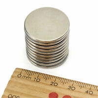 5-25Pcs Super Strong Round Disc 25mm x 2mm Magnets Rare Earth Neodymium N35 Lot