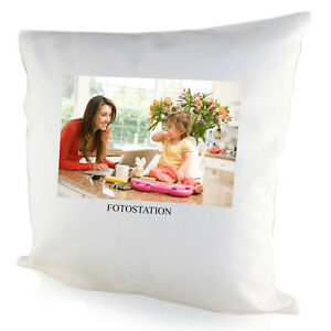 Personalised White Square/Heart Photo Cushion  for Hallway,Bedroom