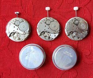 Uhrwerk mechanisch ST96 Handaufzug Schweiz 3 Uhrwerke