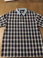 The Hundreds Plaid Flannel Shirt Size Medium M Los Angeles LA FTP BXR