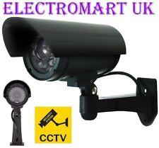 Manichino Falso Cctv Telecamera Sicurezza esca con Lampeggiante LED Interni Esterni