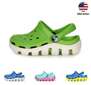 Kids L Croc Style Clogs Boys Girls Toddler Big Kid Garden Slip On Shoe LUXHSTORE