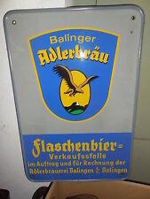 Originales Verkaufsschild, Adlerbräu Balingen, Flaschenbier Verkaufsstelle