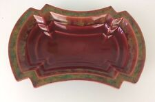 Crown Ducal Ware Small Vintage Red Studio Pottery Trinket Bowl Chipped