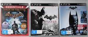 Batman Arkham Asylum, Arkham City and Batman Arkham Origins PS3