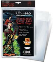 (100 Pack) Ultra Pro Silver Age Size Resealable Bags Poly Comic Book Acid Free