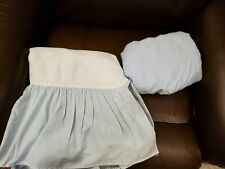 Lot Of 2 Carters Blue Crib Sheet & Crib Skirt Crib Bedding Excellent Cond