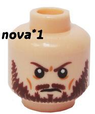 LEGO HEAD MALE BEARD  FLESH BEARD FURROWED BROW FOR MINIFIGURE NEW