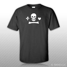 Jolly Roger Stede Bonnet Pirate T-Shirt Tee Shirt Gildan S M L XL 2XL 3XL