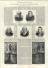 1892 Tercentenary Trinity College Dublin saumon Carson banques Ball