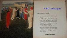 PUBLICITE DE 1983 CARREFOUR VOLLEY SPORT SUPERMARCHE FRENCH PUB AD IMPACT