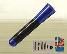 Mitsubishi Evo 8 9 JDM Blue Carbon Aluminum Screw-in Car Auto AM/FM Antenna
