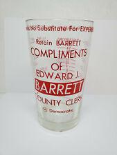 Vintage advertising measuring glass - Edward J. Barrett (1392)