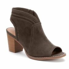 SONOMA Goods For Life THELMA Peep Toe Ankle Boots Mushroom Size 6 NEW